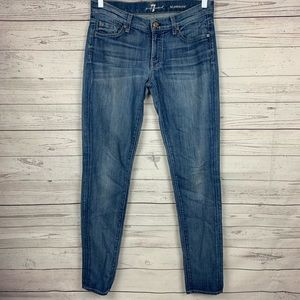 7 For All Mankind Roxanne Skinny Jeans 28
